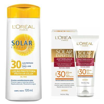 Imagem 1 do produto Protetor Solar L'Oréal Expertise FPS 30 120ml e Facial FPS 30 50ml