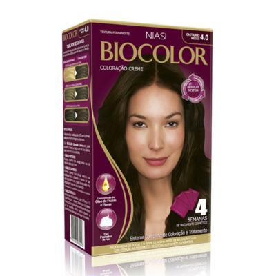 Imagem 2 do produto Kit Biocolor Tintura 4.0 Castanho Médio + S.O.S Raiz Louro Escuro 6.0