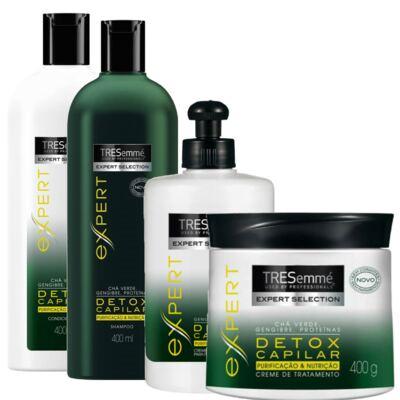 Imagem 1 do produto Kit Tresemmé Expert Detox Capilar Shampoo 400ml + Condicionador 400ml + Creme De Tratamento 400g + Creme De Pentear 300ml
