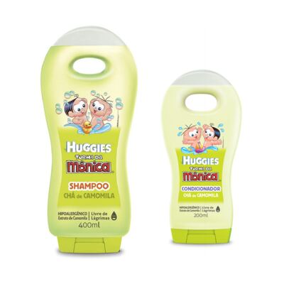Shampoo Turma da Mônica 400ml Camomila + Condicionador Turma da Mônica 200ml Camomila