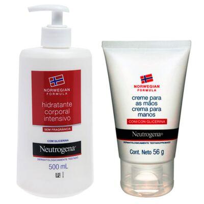Norw Body Neutrogena Com Fragrância 500ml + Neutrogena Creme Tratamento para Mãos 56,7g
