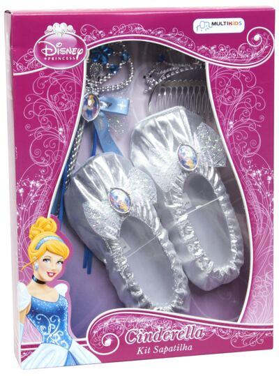 Imagem 1 do produto Acessórios Princesas Cinderella - Sapatilhas, Coroa e Varinha - BR637
