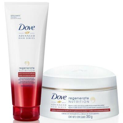 Kit Dove Regenerate Nutrition Shampoo 200ml + Creme de Tratamento 350g