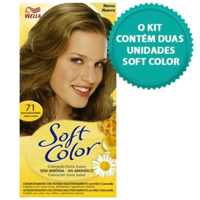 Tintura Soft Color Novo Louro Acinzentado 71 + Tintura Soft Color 71 Louro Acinzentado
