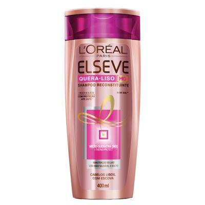 Imagem 4 do produto Kit Shampoo + Condicionador + Sérum L'Oréal Paris Elseve Quera-Liso Mq 230°C - Kit