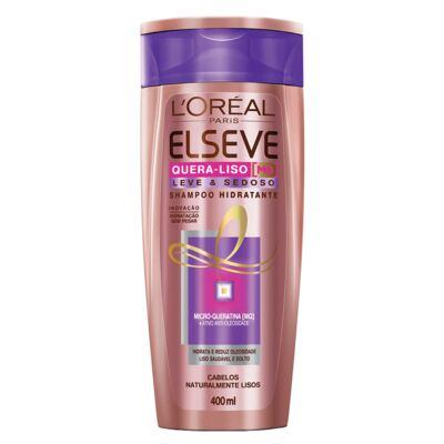 Imagem 3 do produto Kit Shampoo + Condicionador + Creme de Tratamento L'Oréal Paris Elseve Quera-Liso Leve e Sedoso - Kit