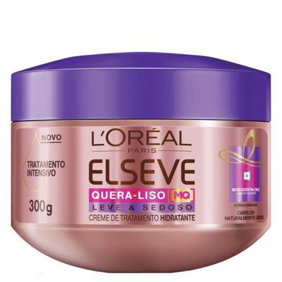 Imagem 4 do produto Kit Shampoo + Condicionador + Creme de Tratamento L'Oréal Paris Elseve Quera-Liso Leve e Sedoso - Kit