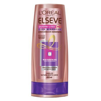 Imagem 2 do produto Kit Shampoo + Condicionador L'Oréal Paris Elseve Quera-Liso Leve e Sedoso - Kit