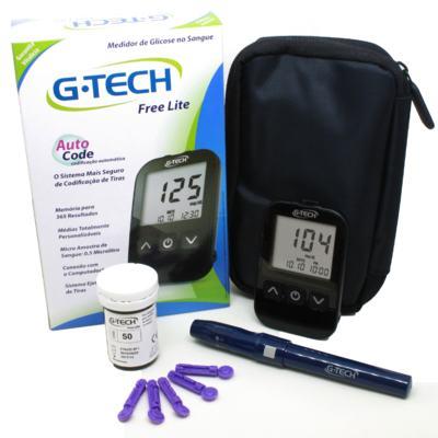 Kit para Controle de Glicemia G-Tech Lite