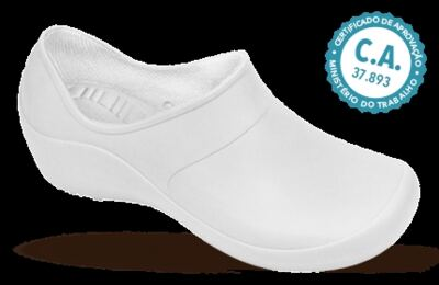 Imagem 1 do produto Sapato Profissional Feminino Mary Branco Boa Onda - 38