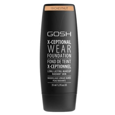 Imagem 1 do produto Base Facial Gosh Copenhagen - X-ceptional Wear Foundation - Chestnut