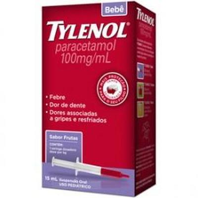 Tylenol Bebê 100mg Suspensão Oral Sabor Frutas 15mL