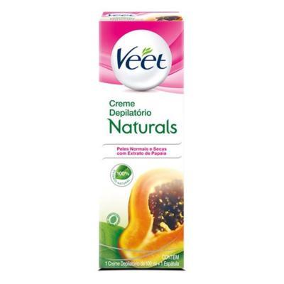 Depilatório Creme Veet Naturals Papaya 100ml