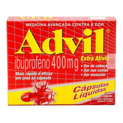 Imagem 1 do produto Advil Ibuprofeno Wyeth - 400mg | 8 cápsulas líquidas