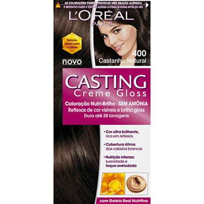 Tintura L'Oréal Casting Gloss 400 Castanho Natural