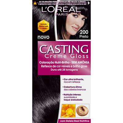 Imagem 1 do produto Tintura L'Oréal Casting Gloss 200 Preto