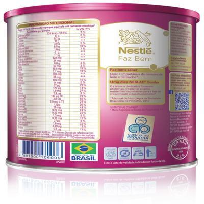 Imagem 7 do produto Composto Lácteo Neslac Comfor - lata, 800g -