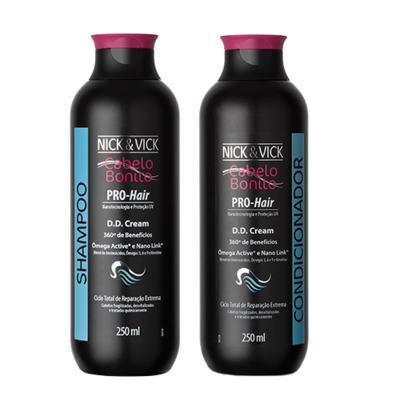 Imagem 1 do produto Kit Shampoo + Condicionador Nick & Vick Pro-Hair DD Cream - Kit