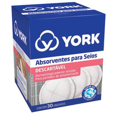 Absorvente para Seios York 30 Unidades