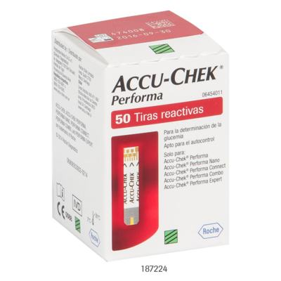 Imagem 2 do produto Tiras para Teste de Glicemia Accu-Chek Performa 50 Unidades -