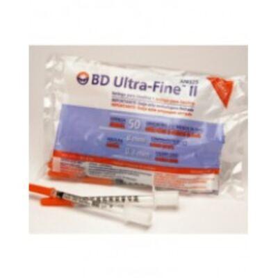 Seringa BD Ultra Fine Ii 0,5ml Agulha 8 0x0 3 C/10
