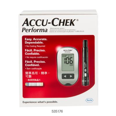 Imagem 1 do produto Kit Tiras Medidoras de Glicose Accu Check Performa Roche
