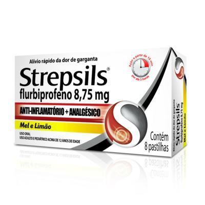 Imagem 2 do produto Strepsils Sabor Mel e Limão 8 pastilhas - 100ml