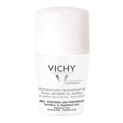 Imagem 1 do produto Desodorante 48H Vichy - Desodorante Roll-On para Peles Muito Sensíveis ou Depiladas - 50ml