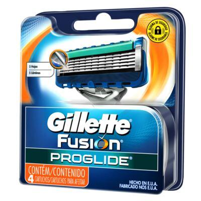 Carga Gillette Fusion Proglide - 4 Unidades