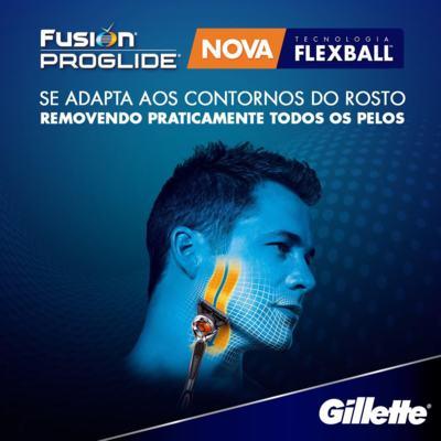 Imagem 2 do produto Carga Gillette Fusion Proglide - 4 Unidades
