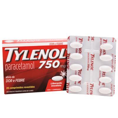 Imagem 1 do produto Tylenol 750mg 20 comprimidos -