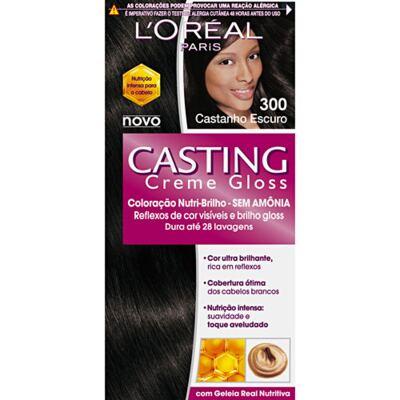 Imagem 1 do produto Tintura L'Oréal Casting Gloss 300 Castanho Escuro