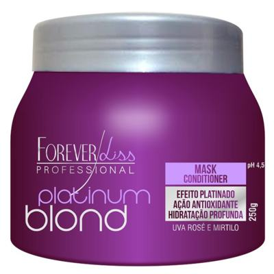 Imagem 2 do produto Kit Shampoo + Máscara Matizadora Forever Liss Professional Platinum Blond - Kit