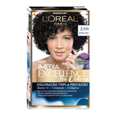 Imagem 1 do produto Tintura Imédia Excellence L'Oréal Ice Colors 2.111 Preto Perolado