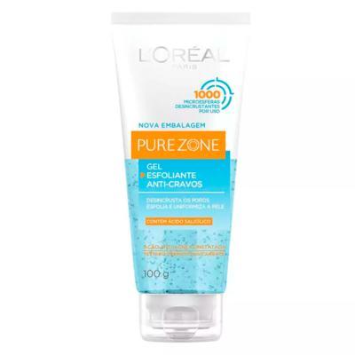 Imagem 1 do produto Esfoliante Facial L'Oréal Paris Gel Esfoliante Anti-Cravos Resistentes Dermo Expertise - 100g