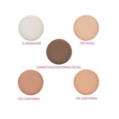 Imagem 3 do produto Paleta De Contorno Facial 5 Etapas Luisance Cores - 1 unid