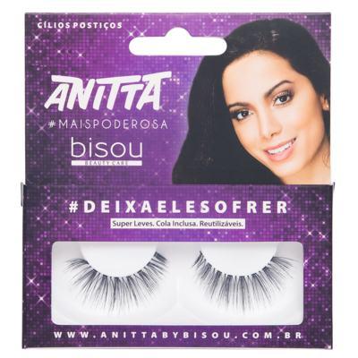 Anitta #DEIXAELESOFRER Bisou - Cílios Postiços - Pack Unitário