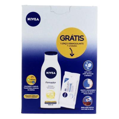 Kit Hidratante Firmador Nivea Q10 400ml + Lenço de Limpeza Demaquilante 7 Unidades