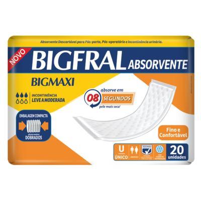 Imagem 1 do produto Absorvente Geriátrico Bigmaxi Super 20 Unidades