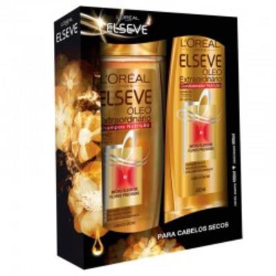 Kit Shampoo Elseve Óleo Extraordinário Nutrição 400ml + Condicionador 400ml