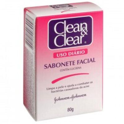 Imagem 1 do produto Sabonete Clean & Clear Facial 80g