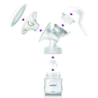 Imagem 5 do produto Kit Philips Avent Extrator Manual de Leite + Copo Pinguim 200ml