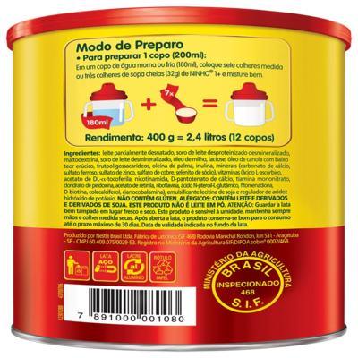 Imagem 2 do produto Composto Lácteo Nestlé Ninho Fases 1+ Lata 400g