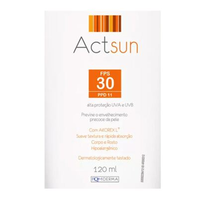 Imagem 2 do produto Protetor Solar em Loção Fps30 Actsun - Loção Protetora - 120ml