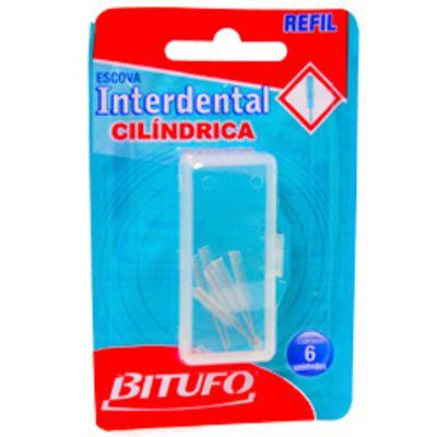 Imagem 1 do produto Refil para Escova Dental Bitufo Cilíndrico 6 Unidades