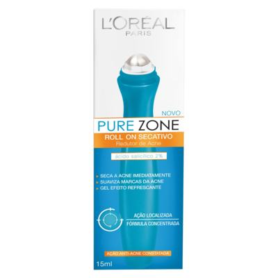 Imagem 1 do produto Gel Secativo L'Oréal Pure Zone Roll On 15ml