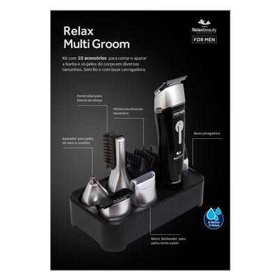Imagem 3 do produto Barbeador Elétrico Relaxbeauty - Relax Multi Groom - Kit