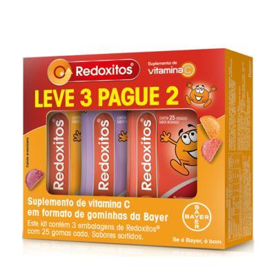 Imagem 1 do produto Kit Redoxitos 25 Gomas Mastigáveis 3 Unidades Sabor Sortido
