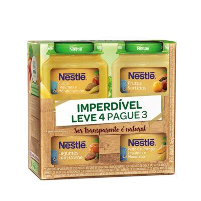 Imagem 1 do produto Kit Papinha Nestlé 115g 3 Unidades + Papinha de Frutas 120g