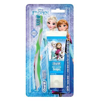 Kit Oral-B Stages Frozen Escova Dental + Creme Dental Tutti-Frutti 100g